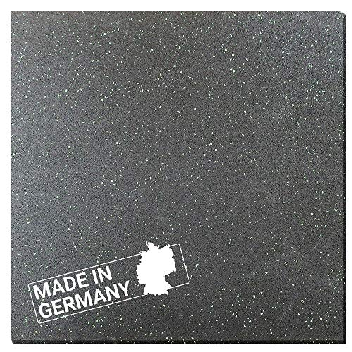Antivibrationsmatte Hemmdal - 60x60 cm 8 mm - Waschmaschinenmatte - Gummimatte Made in Germany - Antirutschmatte für Waschmaschine, Trockner, Geschirrspüler & Fitnessgeräte
