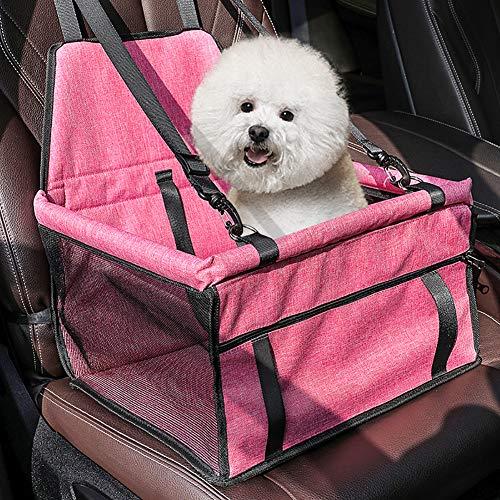 Keyzone Hundeautositz Hundesitz Hundetransportbox für Kleine bis Mittlere Hunde mit Gurte für Rück und Vordersitz