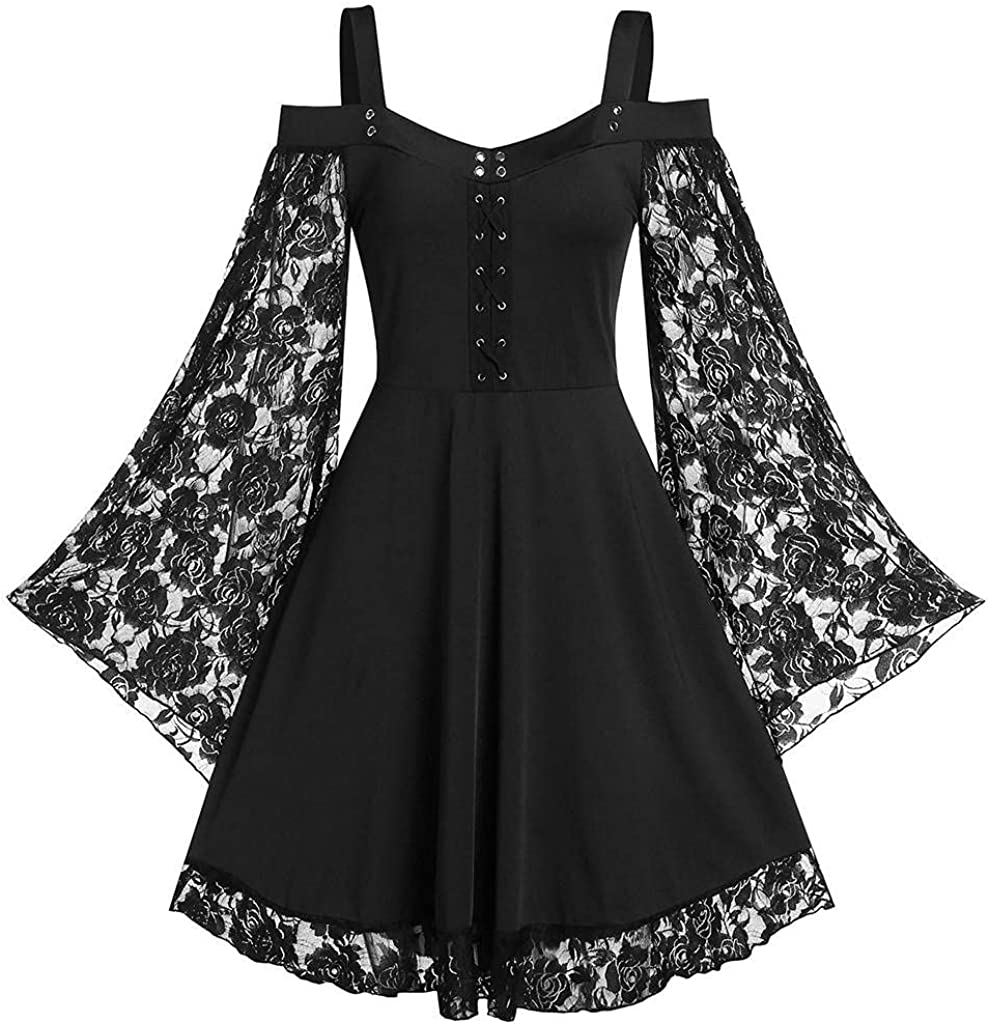 Gothic Dress for Women Plus Size Plus Size Gothic Dresses for Women Special Occasion Dark in Love Ruffle Sleeves Off