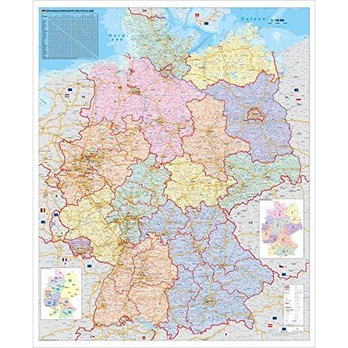 Landkarte Deutschland Amazon De