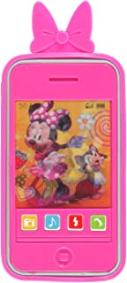 Kids Toy Smart Phone with Realistic Sounds and Soft Case (Minnie Mouse)