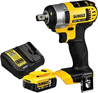 DEWALT DCF880N 18V XR Li-ion Compact Impact Wrench with 1 x 5.0Ah Battery & Charger