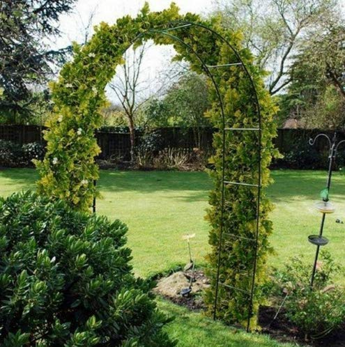 garden mile Heavy Duty Metal Garden Arch Climbing Plants Flowers Roses Archway Outdoor Decorative Tubular Strong