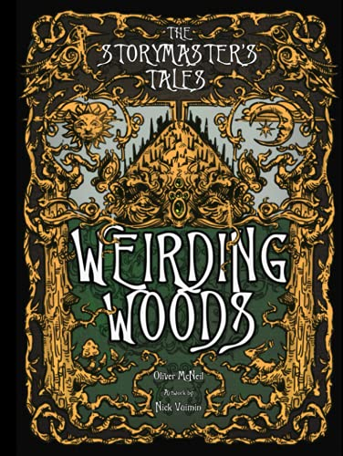 """The Storymaster's Tales """"Weirding Woods"""" Folklore Fantasy: Become a Hero in a Grimm Family tabletop RPG Boardgame Book. Kids and Adults Solo-5 Players"""