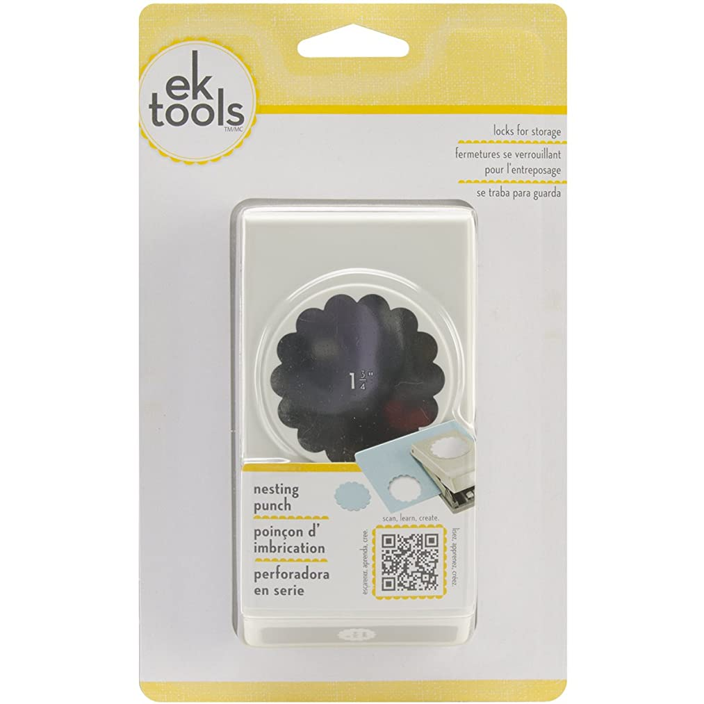 EK Tools Circle Punch, 1.75-Inch Scalloped Edge