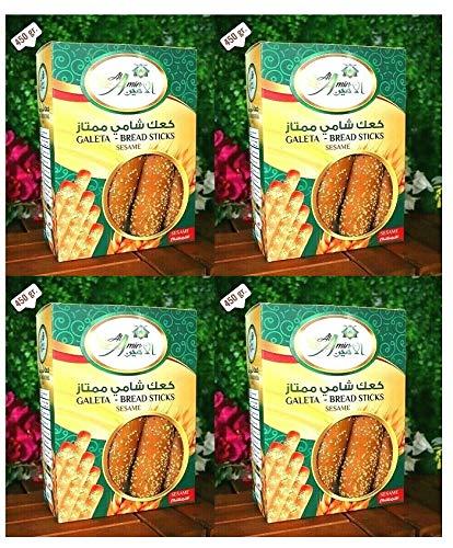 Al Amin Shami Sesame Breadsticks - 450g/16oz each - 4 Packs - كعك شامي الأمين بالسمسم