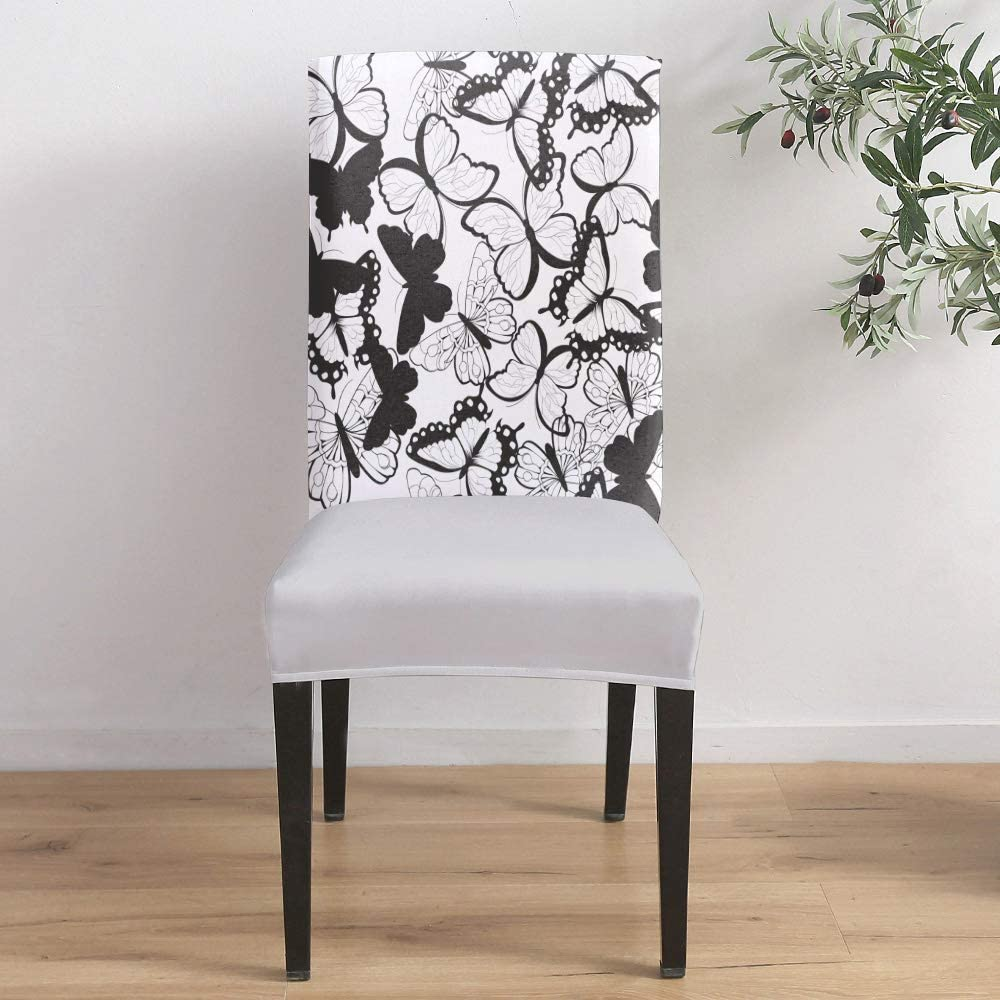 Dining Room Stretch Chair Cover Black Directly managed store and Slipcover White Butter Outlet SALE