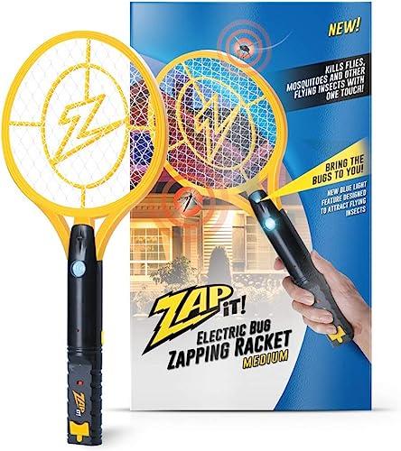 popular Zap It Bug Zapper Rechargeable Bug Zapper Racket online with Blue Light Attractant, 4,000 Volt, USB Charging discount Cable online sale