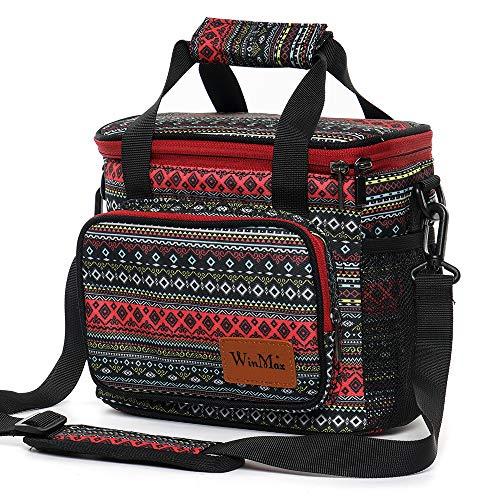 winmax Sac Isotherme Repas Femme Lunch Bag Sac à Déjeuner Portable Sac Pique Niques Sac Glacière pour Camping Bureau Travail Ecole Voyage Repas Préparés