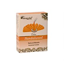 Aromatika Vedic Sandalwood Natural Masala Incense 120 Cones in Pack of 12 Boxes   Best for Prayer, Meditation and Relaxation