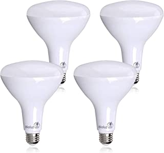 4 Pack Brightest BR40 LED Bulbs by Bioluz LED – Instant ON Warm LED Energy Saving Bulbs, 17w (120w Replacement) 2700k Bulb...