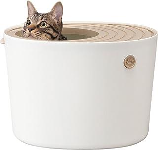 アイリスオーヤマ 上から猫トイレ ホワイト プチ