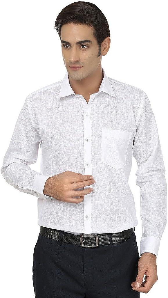 Royal Men's Solid Formal Cotton Shirt
