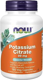 Citrato de potasio, 99 mg, 180 cápsulas - Now Foods