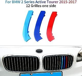 Cobear Für 2 Series Active Tourer 218i 220i 2015 2017 M Style Nierenaufkleber Nieren Sport Kühlergrille Glanz Abdeckung 3 Stück (12 Stäbe)