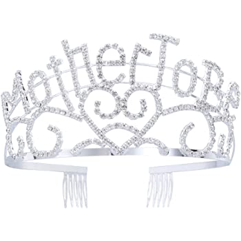 Crystal Heart Metal Mother To Be Tiara Baby Shower Mom to Be Gift Crown