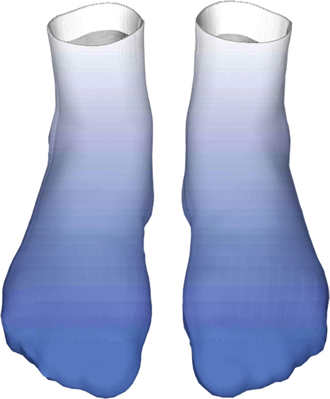 Men's and Women's Fun Socks Printed Cool Novelty Funny Socks,Deep Mysterious Ocean Sea Inspired Vivid Blue Colored