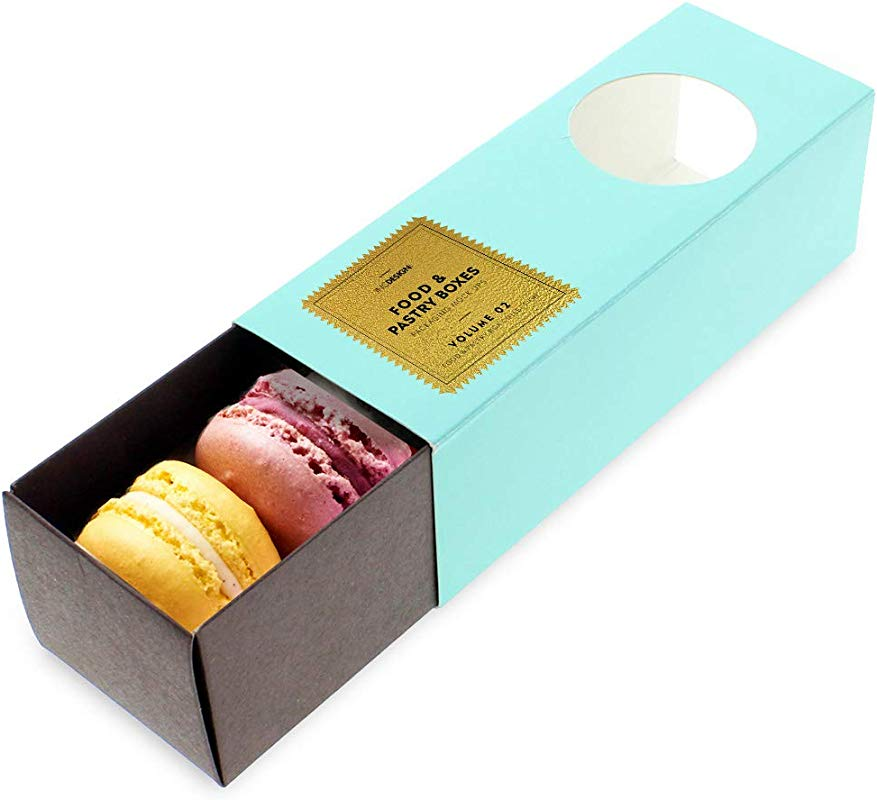 Linen And Bags Robin Blue Macaron Cookie Box Pack Of 20 Bakery Treat Boxes For Gift Giving Pastry Boxes Party Favor Box Chocolate Dessert Treat Packaging With Clear Window