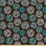 Ambesonne braun-blauer Stoff von The Yard, Punkte formen,