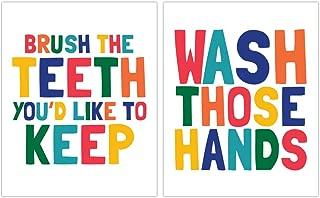 Children Bathroom Paper Art Two Print Set, Bathroom Sign, Kids Bathroom, Kids Bathroom, Bathroom Art Wall Decor, Gender Neutral Bathroom, Boy Girl Bathroom Decor, Shared Bathroom Decor