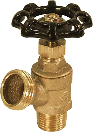 wholesale Midline Valve 6834 Boiler Drain Valve with Stuffing lowest Box 1/2 in. MIP Inlet x 3/4 in. MHT Outlet, popular Brass, Lead Free outlet sale
