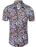 Daupanzees Mens Paisley Dress Shirt Fashion...