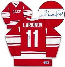 Igor Larionov Soviet Union Russia Autographed CCCP Custom Olympic Hockey Jersey