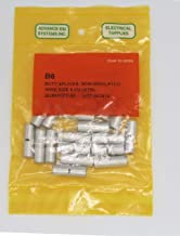 6 AWG Non Insulated Seamless Butt Connectors 20 Pack