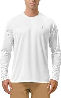 Men's Long Sleeve Sun Protection UPF 50+ UV Outdoor Dri-fit T-Shirt Rashguard for Running, Fishing, Hiking