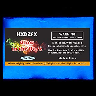 HXDZFX Glow in The Dark Pigment Powder 2 Pack 0.53oz UV Powder Safe Non-Toxic for Slime,Nails,Epoxy Resin,Acrylic Paint,Halloween,Fine Art and DIY Crafts (Sky-Blue)