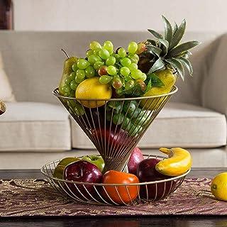 LCZ Épicier Fruit Basket 2 Étages Boules en Métal Panier Décoratif Fruits Et Légumes Art Europe du Nord Innovant De Stocka...
