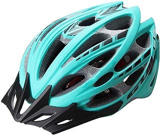 TK-helmets Mountain Helmet, Cycling Equipment Outdoor Sports Helmet Ultra Light Breathable Detachable Brim Helmet Peacock Blue