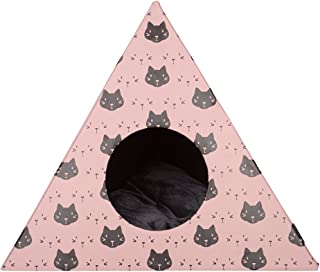 District 70 – 4609 – triangel Cats katthål – 60 x 53 cm – rosa