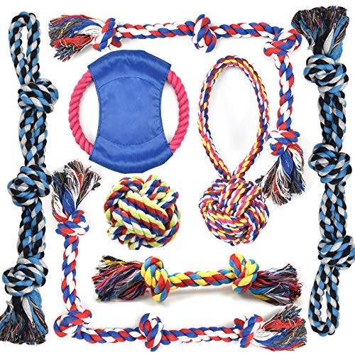 Rope Dog Toys for Aggressive Chewers Large Breed Medium Breed, Small Dog Puppy Teething Chew Toys Heavy Duty Dental Dog Rope Toys Prevents Boredom and Relieves Stress