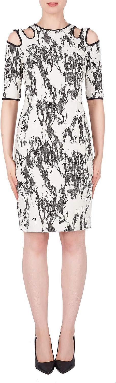 Joseph Ribkoff Cream Black Dress Style 191808
