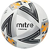 Mitre Ultimatch Max Match Ballon de Football Blanc/Argent/Orange Taille 5
