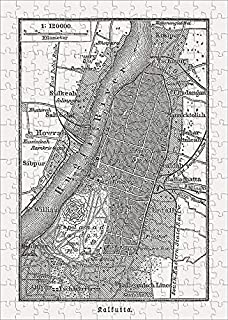 Media Storehouse 252 Piece Puzzle of Old City map of Kolkata (Calcutta), Wood Engraving, published in 1897 (15309466)