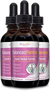 Balanced Femme - Herbal PMS and Menopause Support   All-Natural Liquid for 2X Absorption   Vitex, Dong Quai, Maca Root & More!