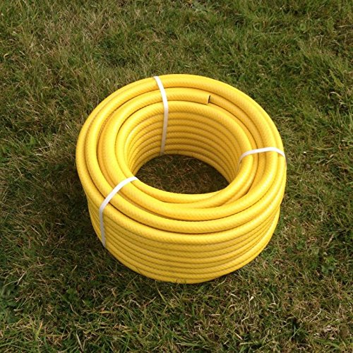 TW Tool Superstore 30 Metre Yellow Garden Hose Pipe - 30M Reinforced Anti-Kink Water Hosepipe