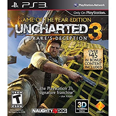 Uncharted 3: Drake's Deception - Game of the Year Edition - Playstation 3 (Renewed)