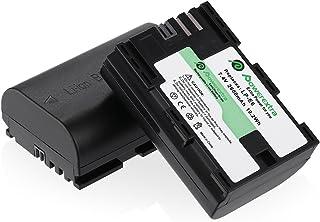 Powerextra Pack de 2 baterías para Canon LP-E6 LP-E6N y Canon EOS 70D EOS 5D Mark II 5D Mark III 7D Mark II EOS 80D 60D 6D 7D 5DS 5DS R y BG-E14 BG-E13 BG-E11 BG-E9 BG-E7 BG-E6 Grips...