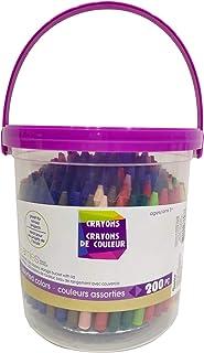 Darice 30073187 Assorted Crayon Bucket Colors, 200 Pack