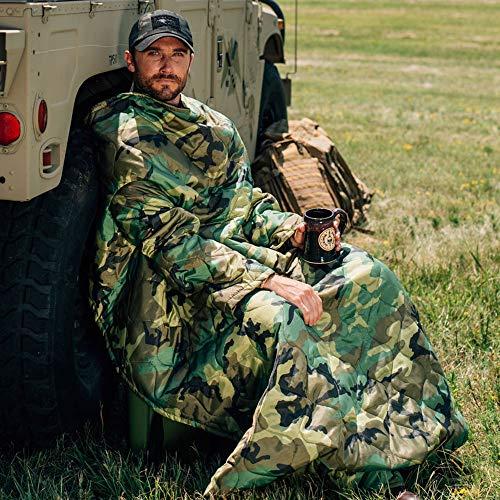 Poncho Liner Woobie Woodland Sleeved Blanket