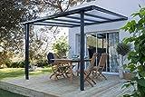 Terrassen-Überdachung'Trend' 312 x 250 cm Anthrazitgrau RAL 7016