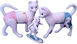 Lenox Kitty's Surfing Lessons Porcelain Collectible Figurine 843177 - Set of 3