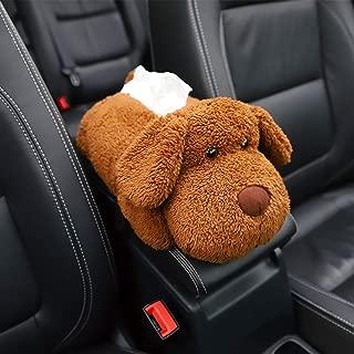 Ergocar 車のティッシュボックス かわいい漫画の動物 マルチユースナプキンボックス 家、オフィス、車およびトラックの装飾のため (テディ)