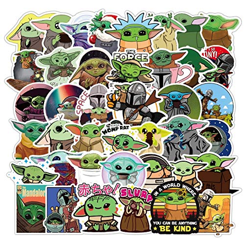 De Mandalorian Star Wars Baby Yoda Sticker Scrapbooking koffer Decal Pvc Waterdichte Kinderen Gift Stickers 50 stks