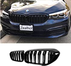 Front Kidney Grille Grill for BMW G30 G31 G38 5 Series 525i 530i 540i 550i with M-Performance Black Kidney Grill (GLOSS BLACK)