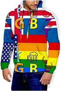 7777777LLLLLLL LGBT Pinata Gay Pride Pullover Hoodie Men 3D Printed Hooded Sweatshirt Casual Pockets