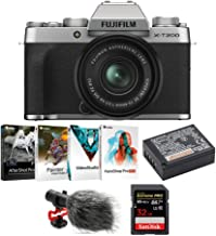 $749 » Fujifilm X-T200 Mirrorless Digital Camera with XC 15-45mm Lens (Silver), Corel Software Suite, Fujifilm Li-Ion Battery, Koah Condenser Microphone and SanDisk 32GB Memory Card Bundle (5 Items)